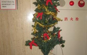 鶴見ハイタウン クリスマスツリー飾りつけ 2013年12月16日開催