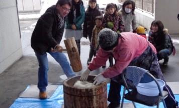 ポレスター橋本 餅つき大会 2013年12月23日開催