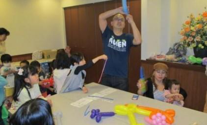 バルーンアートは理事長様が子供たちのリクエストに答えて、いろんなものを作ってくれました♪
