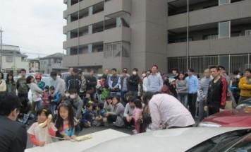 ポレスターブロードシティ越谷赤山 消防避難訓練 2014年4月20日開催