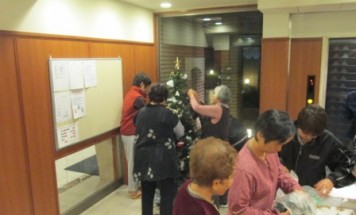 ポレスター鶴町公園 クリスマスツリー装飾会 2014年12月1日開催