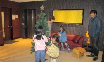 ポレスターはません通り クリスマス飾り付け 2014年12月8日開催