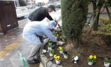ポレスターステーションシティ本庄 花壇づくり会 2014年11月29日開催