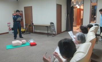 ポレスター鶴町公園 AED講習会 2015年5月15日開催