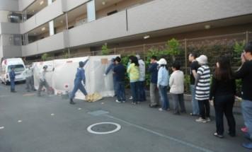 ポレスターステーションシティ鴻巣 消防避難訓練 2015年5月10日開催