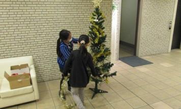 ポレスターリバービュー川原町 クリスマスツリー装飾会 2015年12月5日開催