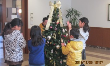 ポレスターブロードシティ二の宮 クリスマスツリー飾り付け会 2015年12月5日開催