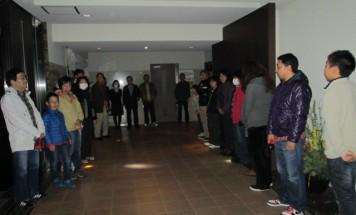 ポレスターステーションシティ北長野 夜間避難訓練 2015年11月14日実施