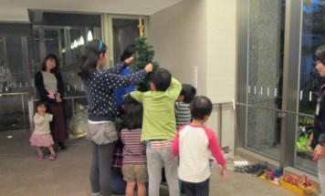 ポレスター宮崎ザ・レジデンス クリスマスツリー装飾会 2015年12月11日開催