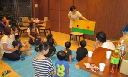 子ども達も紙芝居に夢中です♪