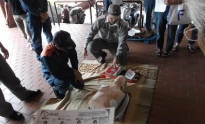 AED講習。手順をしっかり確認しました!