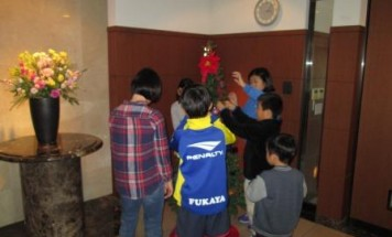 ポレスター深谷プレミアムステージ クリスマスツリー飾り付け会 2016年12月3日開催