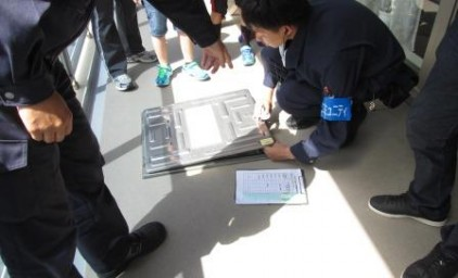 初めて避難ハシゴ訓練が開催されました