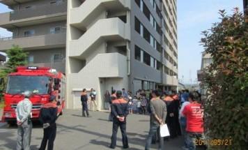 ポレスター富田駅前 消防訓練 2017年5月21日開催