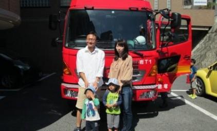 消防車と写真撮影♪