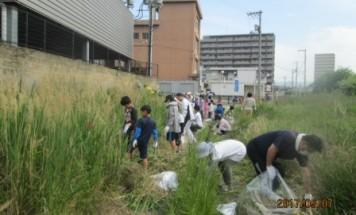 ポレスターブロードシティ高須町 シティクリーニング 2017年5月7日実施