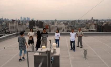 屋上への避難訓練も実施しました