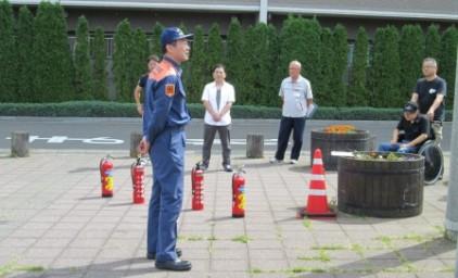 消防署員の講話は、とても興味深い内容でした。