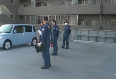 消防署職員による訓話