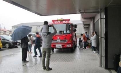 消防車の見学♪