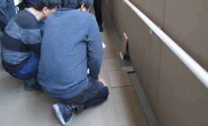 共用廊下シート・溝防水色選定